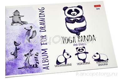 """Альбом для рисования 24л., А4, на скрепке Hatber """"Animals Yoga"""""""
