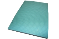 сменный блок А5 80л 60г/м2 для тетради на кольцах, голубой клетка