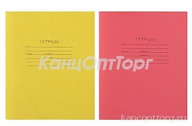 Тетрадь 12клетка, блок №2, бел 75%, цветная МИКС
