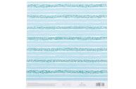Бумага для скрапбукинга «Бирюзовая нежность», 20 ? 21, 5 см, 250 г/м