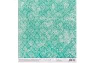 Бумага для скрапбукинга «Бирюзовый ампир», 20 ? 21, 5 см, 250 г/м