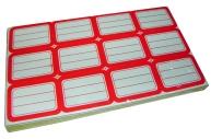 Ценники 182 красные 37х51мм, 12шт на листе, 80 листов, цена за 1 уп. /1 /0 /50