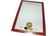 Грамота арт. 37889 ВЫПУСКНИКУ /А4, картон, 1 лист, 4+1/