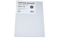 Картон белый А5, 6 листов, 220 г/м2 Calligrata, не мелованный, ЭКОНОМ