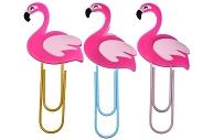 Закладка-скрепка большая 11см Фламинго МИКС  4363514