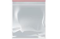 Пакет zip lock 10 х 10 см, 35 мкм (с красной полосой)