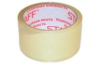 Клейкая лента упаковочная 48мм x 40м, прозрачная, 40мкм, STAFF, 440087