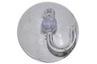 Крючок на вакуумной присоске «Круг», d=4, 2 см, цвет прозрачный