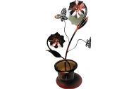 "Подсвечник 12016 ""Бабочки"" на 1 свечу, металл+стекло /1 /0 /48"