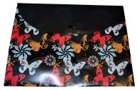 """Папка-конверт на кнопке А4+ 0, 18мм """"Бабочки и цветы"""" ФЕНИКС+ 47191"""