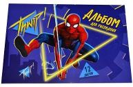 """Альбом для рисования А5, 12 л., """"Супергерой"""", Человек-паук 4979395"""