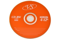 Диски CD-RW VS 700Mb 4-12х 50шт Bulk