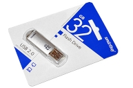 Флэш-диск 32GB SMARTBUY V-Cut USB 2. 0, металл. корпус, серебристый, SB32GBVC-S