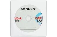 Диски DVD-R SONNEN, 4, 7 Gb, 16x, бумажный конверт (1 штука), 512576