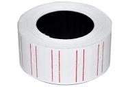 Этикет-лента 21. 5 х 12 мм, белая с красной полосой, 700 этикеток 5171280