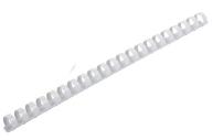 Пружины пласт. д/переплета BRAUBERG,  10 мм (для сшивания 41-55л), белые, 530812