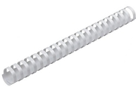 Пружины пласт. д/переплета BRAUBERG, 28 мм (для сшивания 201-240л), белые, 530817