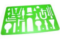 Трафарет химические приборы 7891, 19х11, 5см, флюо J. Otten/24 /0 /720