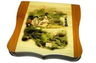 """Зеркало 19380 """"Азия"""", 8х7см, дерево /1 /0 /480"""