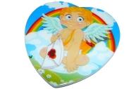 """Магнит-пластик Сердце МС-1336 """"Ангел"""", 5, 5х5, 5см, 4 асс /12 /0 /1200"""