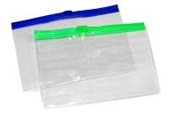 Папка-конверт на молнии, формат А7+, 200 мкр, прозрачная молния, 8. 5х13 см