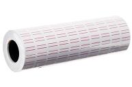 Этикет-лента 21*12мм, прямоугольная, белая с красной полосой, 1000 этикеток  5492012