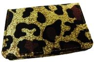 Визитница вертик. 7100_V, Леопард, на 16 карт, 7, 5х11см, к/зам /10 /0 /100