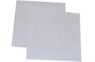 Конверт для CD/DVD бумажный белый окно декстрин KURTSTRIP 201070. 25