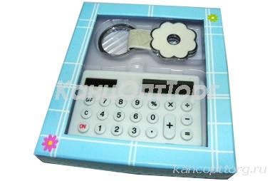 "Набор подар. 1022 ""Презент"", калькулятор+брелок /1 /0 /360"