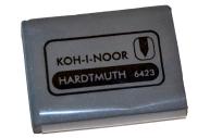 Ластик-клячка KOH-I-NOOR, 47x36x10 мм, супермягкий, серый, 6423018004KD