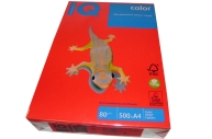 """Бумага цветная д/офисной техники 80г/м2 А4 """"IQ COLOR"""" (кораллово-красный) СО44~~"""