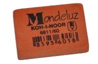 """Резинка стирательная KOH-I-NOOR """"Mondeluz"""", прямоуг, 31х21х7мм, оранжевая, картонный дисплей, 6811/60"""