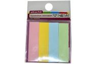 Клейкие закладки бумажные 4цв. по 25л. 12ммх50 Attache