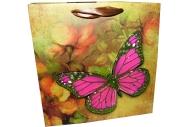 """Пакет подар. бумага 4552 """"Бабочки"""" 16*16*7 /12 /0 /720"""