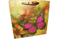 """Пакет подар. бумага 4552 """"Бабочки"""" 22*22*9 /12 /0 /600"""