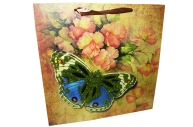 """Пакет подар. бумага 4552 """"Бабочки"""" 30*30*11 /12 /0/480"""