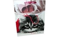 "Пакет подар. бумага 4558 ""Котейка"" 32*26*10 /12 /0 /480"