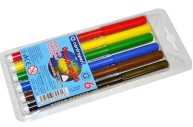 """Фломастеры 06цв Centropen""""Rainbow Kids"""" трехгранные, смываемые, ПВХ"""