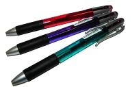 Ручка масляная Piano 171-А, 2-цветная 0, 7мм, авт., прозр. корпус, цв. асс /50 /0 /2400 /0