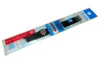 Стержни 136 син. игольчатые, набор 3шт+1 красный в подарок на масл. основе, 145мм, 0, 5 /120 /0 /1200 /0