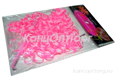Набор Плетение из резинок 9499, 200шт, двухцветные, крючок /20 /0 /2400 /0