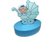 """Шкатулка 6102-blue """"Новорожденный"""", овал, d- см, голубой, пластик J. Otten /12 /0"""