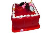 Копилка пластиковая ТОРТ прямоугольный красный Happy Day