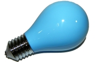 Пепельница в виде лампочки синяя