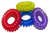 Резинка для волос 4515 Пружинки пластик, d-3. 8см, цена за 1 резинку, цв. асс /100 /0 /10000 /0