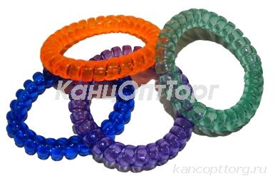 Резинка для волос 4550 Пружинки пластик, d-5, 5см, цена за 1 резинку, цв. асс /100 /0 /5000 /0