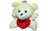 Брелок-мягкая игрушка Мишка с сердцем, 5см
