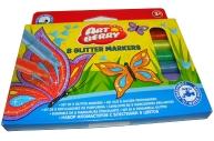 Фломастеры Glitter 8цв Artberry/короб с подвесом