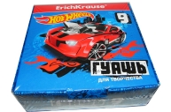 Гуашь 9цв Hot Wheels Super Car /20мл
