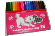 фломастеры 18цв Cat Marie разноцветный